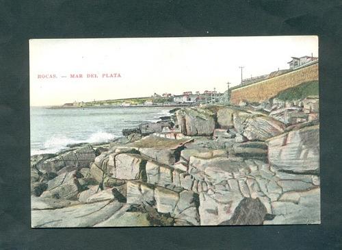 mar del plata . antigua tarjeta postal .
