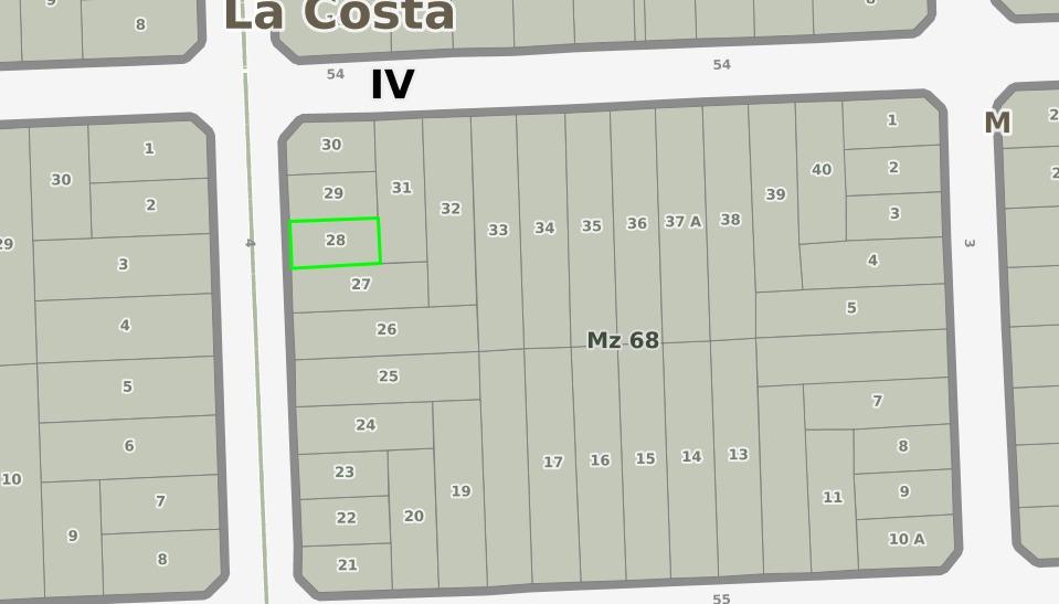 mar del tuyu venta terreno 4 cuadras del mar asfalto gas clo
