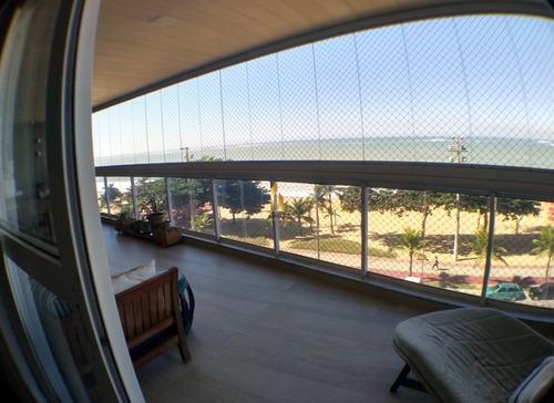mar mediterrâneo - apartamento 04 quartos alto padrão frente ao mar na praia de itaparica. - 18327
