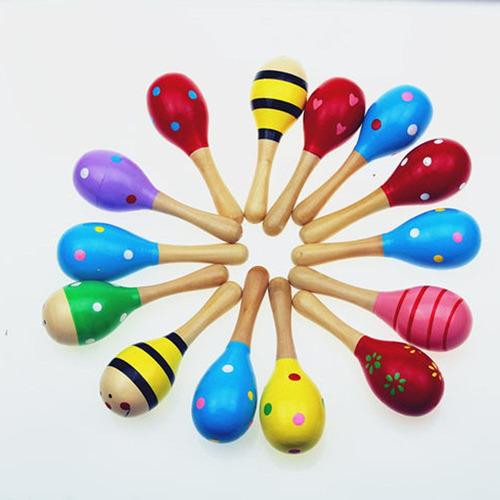 maracas de madera juguete estimulación niños y bebés benjoa