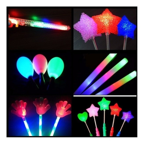 maracas luminosas led x10 - maraca luz activa con movimiento