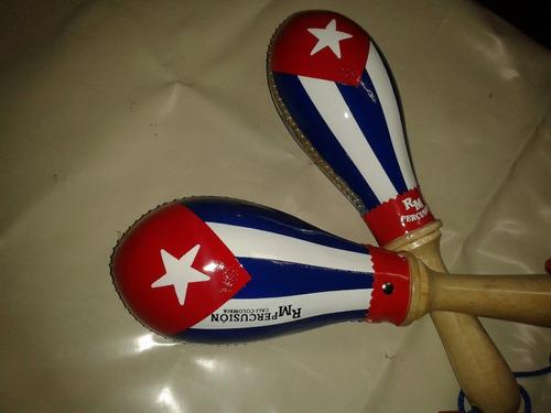 maracas salsera color bandera de puertorico marca rm
