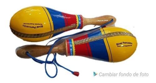 maracas salseras bandera de colombia
