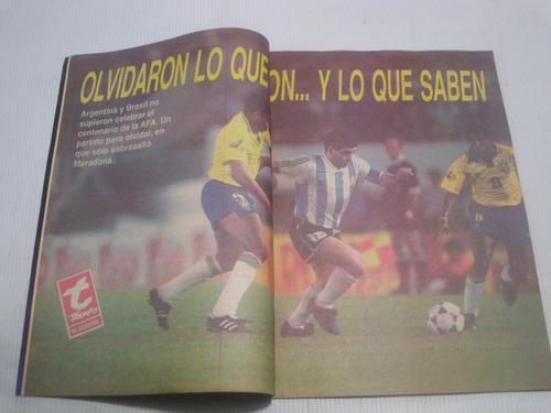 maradona en chile 1993. revista triunfo