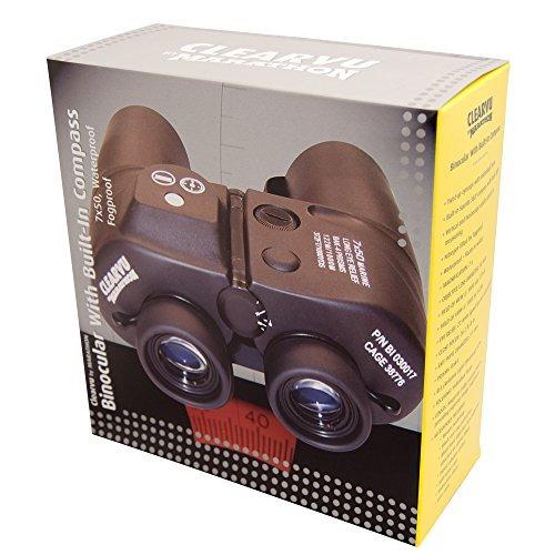 maraton bi impermeable marino binocular con brújula 7x50