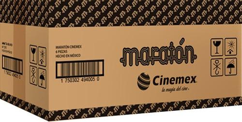 maratón cinemex (caja con 6 piezas)