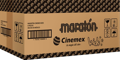 maratón cinemex kids (caja con 6 piezas)