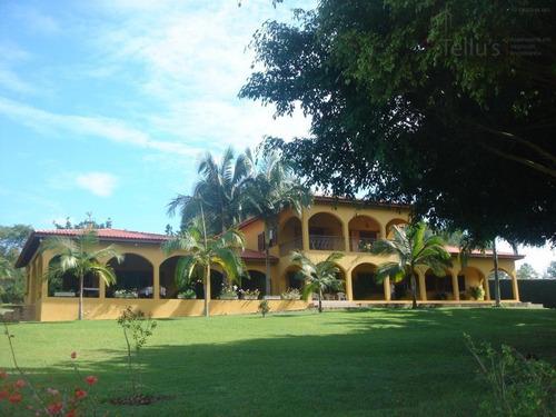 maravilhosa chácara  residencial à venda, casa principal com 5 suítes caiacatinga, porto feliz. - ch0012
