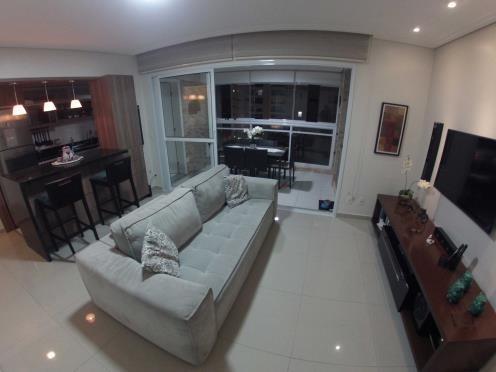 maravilhoso apartamento decorado de 2 dormitórios com 1 suíte na ponta da praia - santos/sp - ap0411