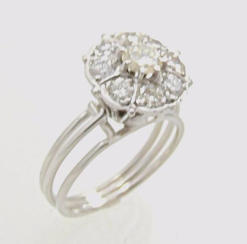 966d6d633e8 Maravilhoso Chuveiro De Diamantes Em Ouro Branco 18k - R  3.899