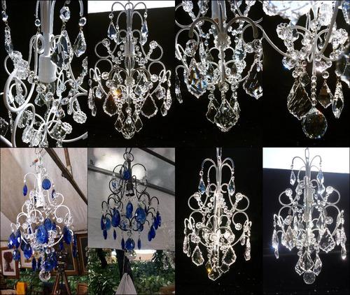 maravilhoso lustre de cristal azul ( lustre para quartos)