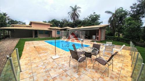 maravilhoso sítio em condomínio fechado com piscina e área gourmet - 3657