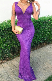 964ccca620 Maravilhoso Vestido Longo Sereia Em Renda Com Decote - Vestidos Femininas  no Mercado Livre Brasil