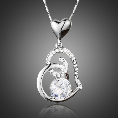 maravilloso collar dije corazon swarovski regalo de amor !!!