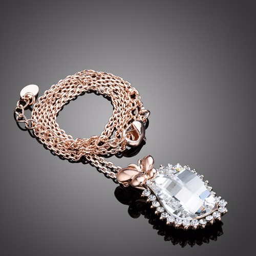 maravilloso collar mariposa chapa 18 k regalo mama