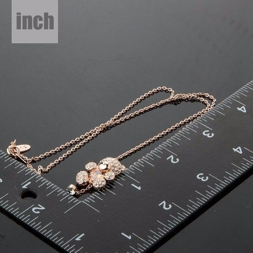 maravilloso collar osito cristal swarovski dia de la madre