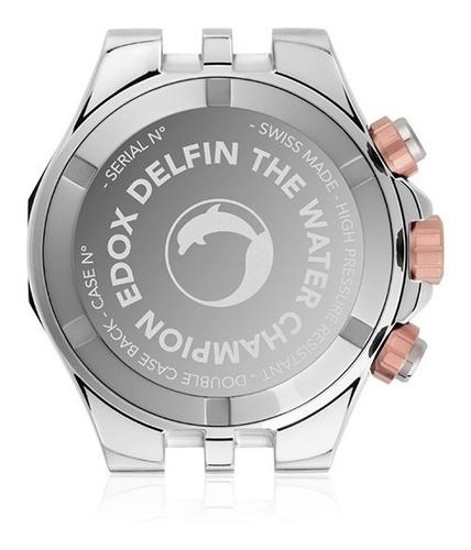 maravilloso reloj edox delfin 10109357rbum