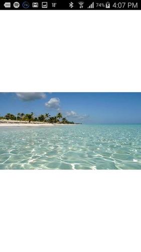 maravilloso terreno en la increãble playa del caribe mexicano, mahahual quintana roo.