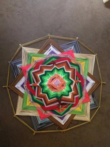 maravillosos mandalas tejidos en hilo 45 x 45 cm