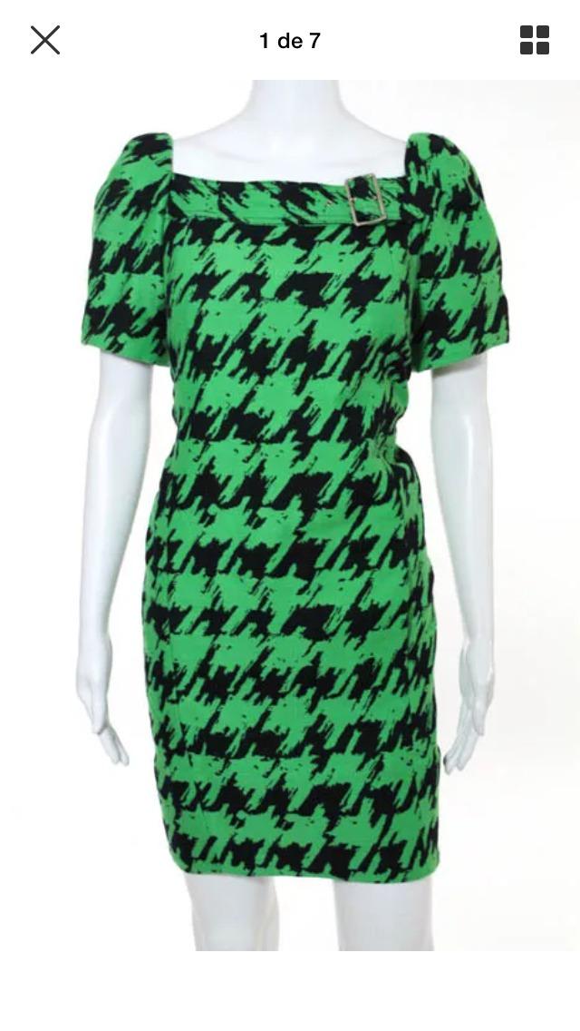 Vestido verde y negro