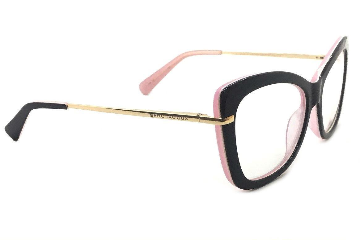 Óculos Feminino Armacao Grau Geek Quadrado Dourado Marc