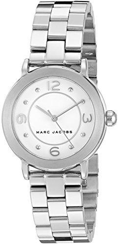 marc jacobs reloj de acero inoxidable para mujer riley - mj