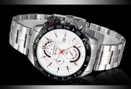 4dab0b87d6b marca masculino relógio · relógio marca curren 8148 masculino aço inox  original novo