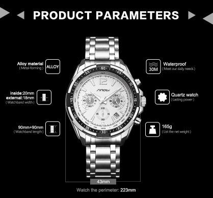 13f5a00bad5 relógio sinobi marca de luxo s choque relógios homem de aço · relógio marca  relógios · marca relógios relógio