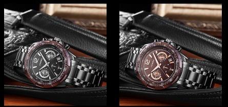 1fd710717f7 marca relógios relógio · relógio sinobi marca de luxo s choque relógios  homem de aço