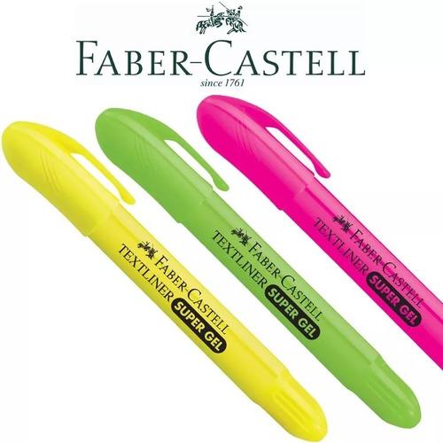 marca texto super gel faber-castell 03 unidades