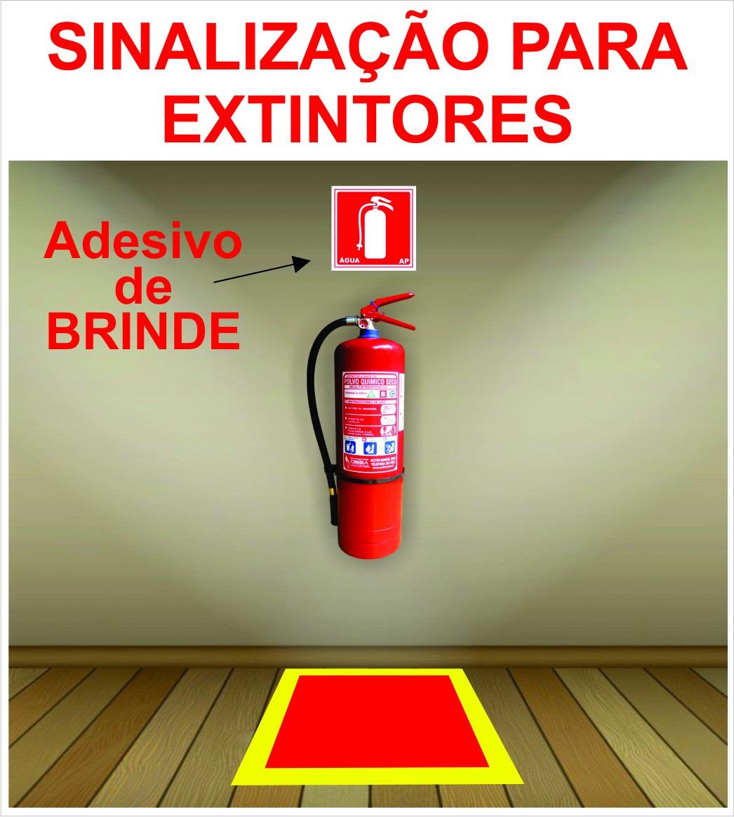 Armario Definición Rae ~ Marcaç u00e3o De Ch u00e3o Extintor De Inc u00eandio + Brinde Melhor Custo R$ 44,90 em Mercado Livre