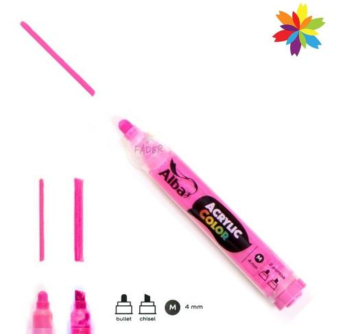 marcador alba acrylic color 4 mm intercambiable recargable