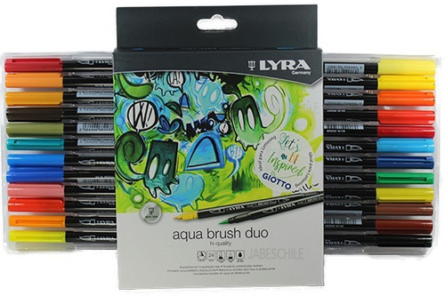 marcador aqua brush duo 24 col lettering punta pincel (lyra)