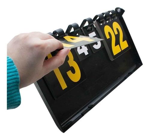 marcador de pontos gols placar de mesa dobravel maleta luxo