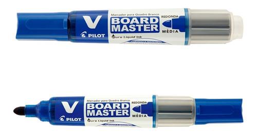 marcador de quadro branco wbma recarregável azul pilot