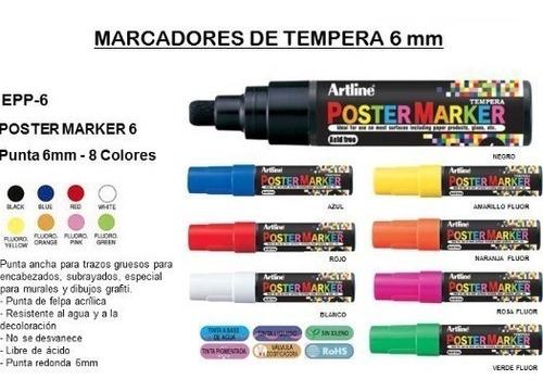 marcador de tempera artline epp-6 x unidad poster marker