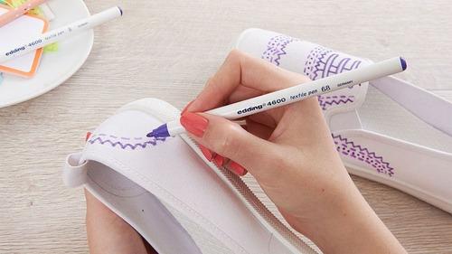 marcador edding 4600 marcadores tela x unidad textil