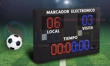marcador electronico led - inalambrico - exterior - deportiv