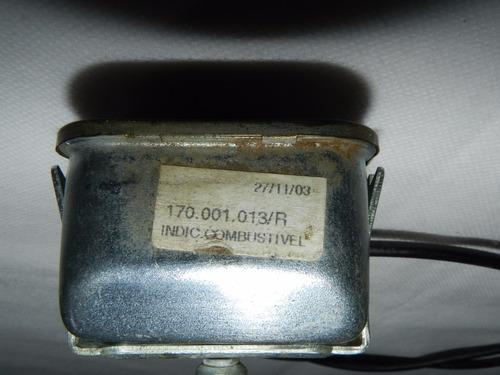 marcador medidor combustível gasolina painel vw fusca fuscão