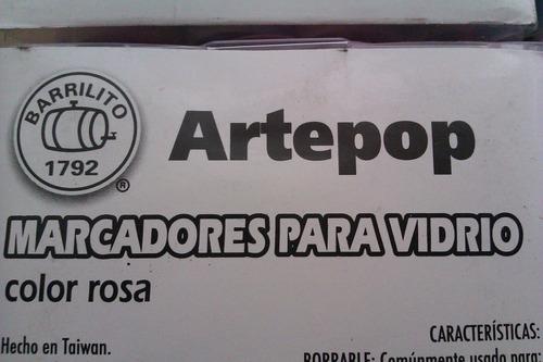 marcador para vidrio arte pop 8 grs.