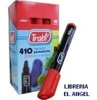 marcador permanente cajax12 trabi 410 azul negro rojo verde