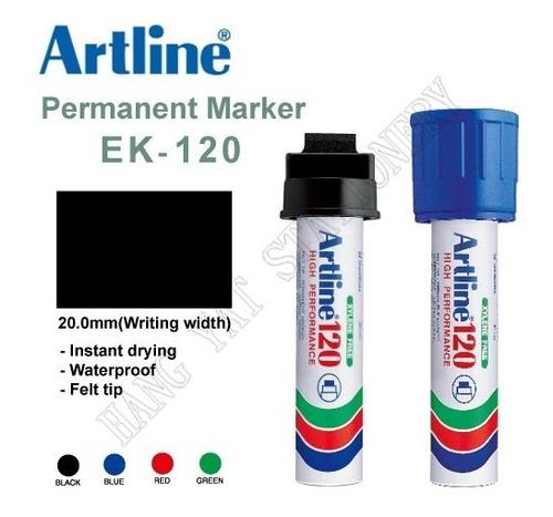 marcador super ancho 2cm artline ek-120tinta permanente