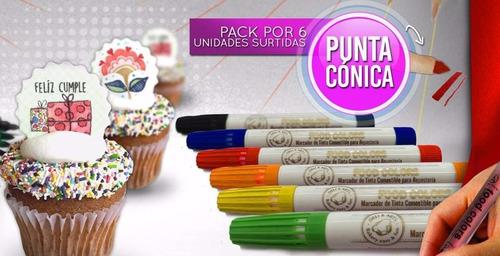 marcador tinta comestible para decoracion tortas mundomatok