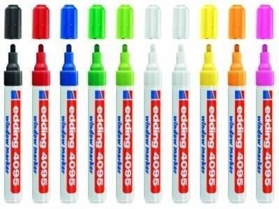 vidrio blanco 4095 1 Chalk marker edding 2-3 mm tiza-lápiz para pizarra