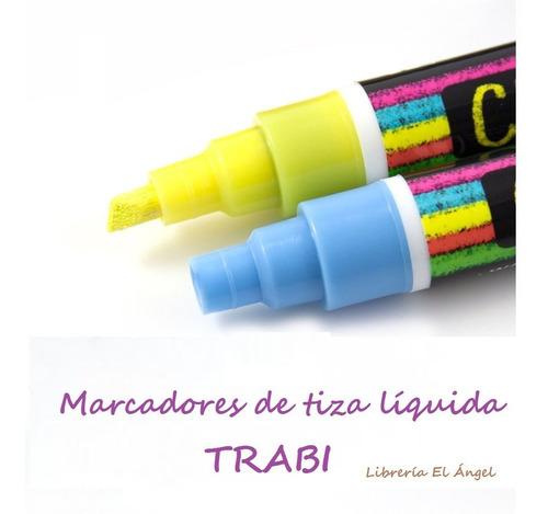 marcador trabi chalk vidrio tiza liquida 2mm a 6mm