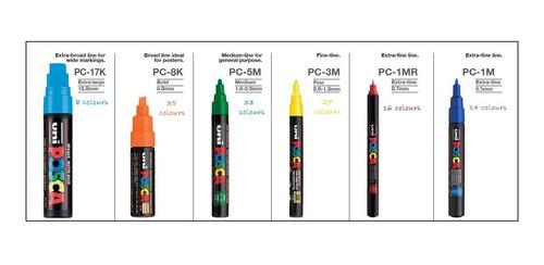 marcador uni posca pc 3m todos los colores!!! barrio norte.