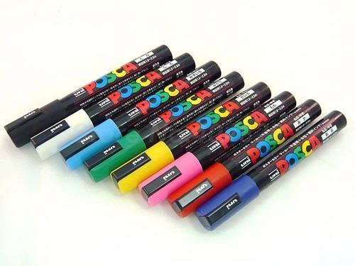 marcador uni posca trazo medio de 1.8-2,5mms. pc-5m pintura