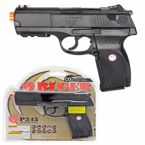 marcadora airsoft ruger p345 co2 bbs metal 4.5mm xtreme