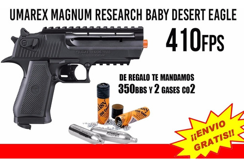 marcadora co2 airsoft magnum research baby desert eagle  4.5