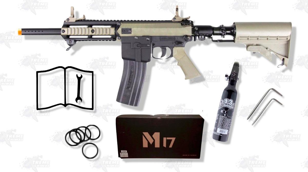 Marcadora M17 Elite Milsig Magfed Gotcha Paintball Xtreme